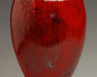 Classic Red Raku Urn