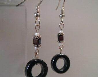 CLEARANCE - Hematite Mod Earrings