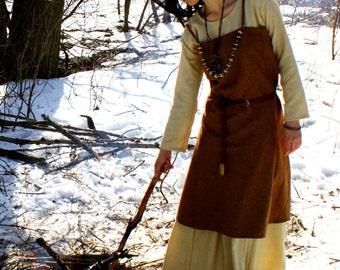 Viking Apron Dress, Early Medieval , Scandynavian Dress, for Viking Reenactors, Viking Costume