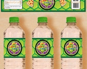 Teenage Mutant Ninja Turtles Inspired Water Bottle Labels Printable, DIY File