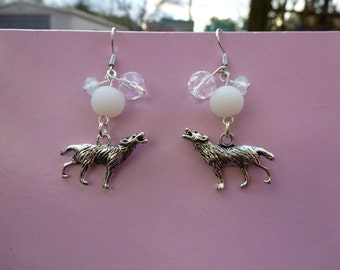 Howling at the Moon Earrings - Featuring Swarovski Crystal Bead Cluster