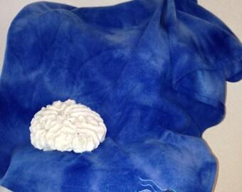 Nautical Blue Fleece Lap Blanket