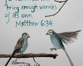 Custom Watercolor Scripture Verse Paintings