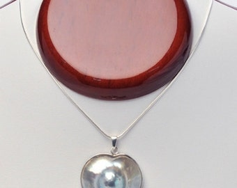Heart-Shaped Mabe Pearl Pendant