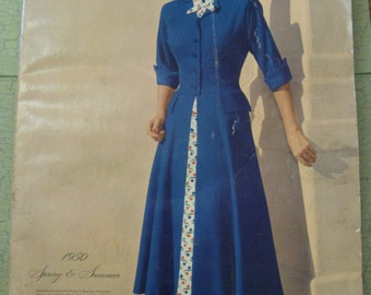 1950 Vintage Montgomery Ward Mail Order Catalog with Fashion, Household, Tools, etc