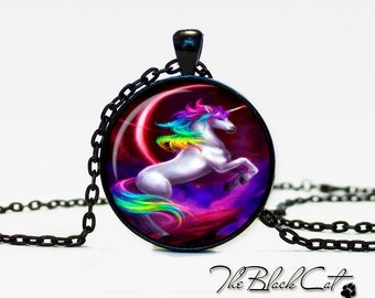Unicorn pendant Unicorn necklace Unicorn jewelry fantasy style art gift (PU0005)