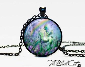 Unicorn pendant Unicorn necklace Unicorn jewelry fantasy style art gift (PU0009)