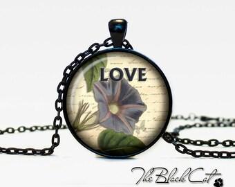 Vintage Flowers pendant Vintage Flowers jewelry Vintage Flowers necklace (PVF0001)