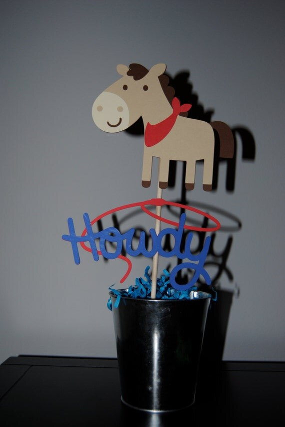 Horse Cowboy Birthday Cake Topper Kids By Uniquepartycraft