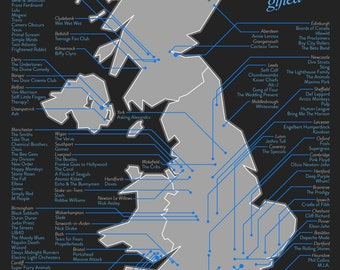 Map of UK Music (A1)