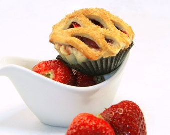 "Mini Pie, Strawberry Pie - 1 dozen of 3"" mini pies"