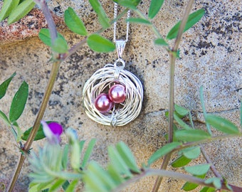 Bird's Nest Mother's Pendants