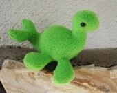 Mini travel size green Loch Ness monster plush