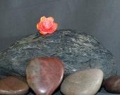 Orange and Pink BEAUTYful Flower Lapel Pin