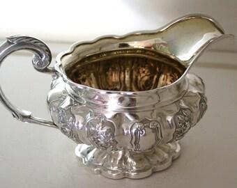 Antique Georgian Sterling Silver Creamer Edward Bartonth, 19th Century Silver