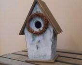 Whitewashed Birdhouse
