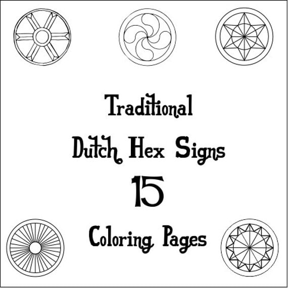pennsylvania dutch hex sign coloring pages - photo #15