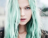 Mint Green Hair Chalk - Hair Chalking Pastels - Temporary Hair Color - Salon Grade - 1 Large Stick - SexyHairChalk