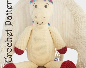 Crochet Toy Pattern: Giant Amigurumi Pony or Horse PDF Instant Download