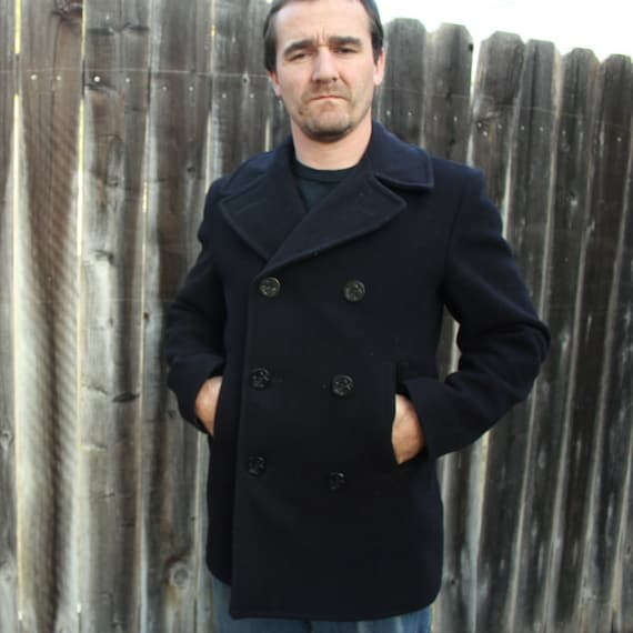 1966 U.S. Navy Wool Peacoat size 36