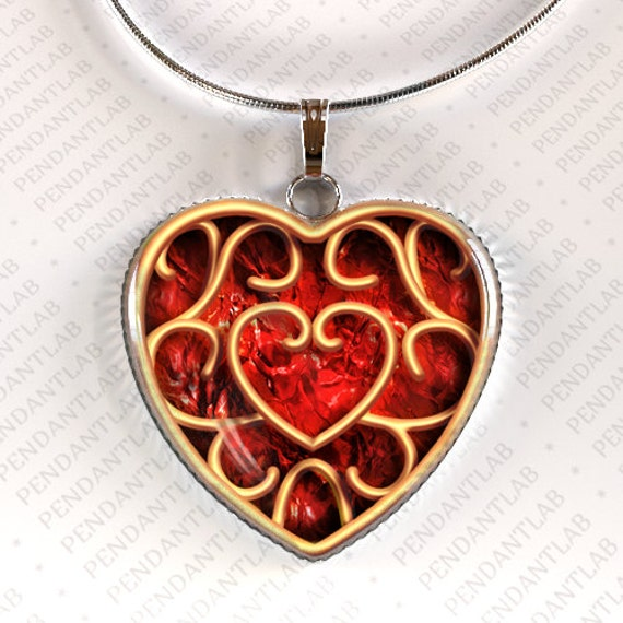 Zelda Heart Container Necklace: Heart Container Pendant Piece Of Heart Legend Of By PendantLab