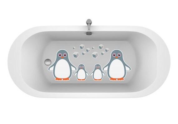 Vinilos antideslizantes de pingüinos para el baño.Vinilos infantiles pingüinos de colores.Pegatina antideslizantes para bañeras.Baños niños