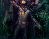 Batman And Croc Art Print