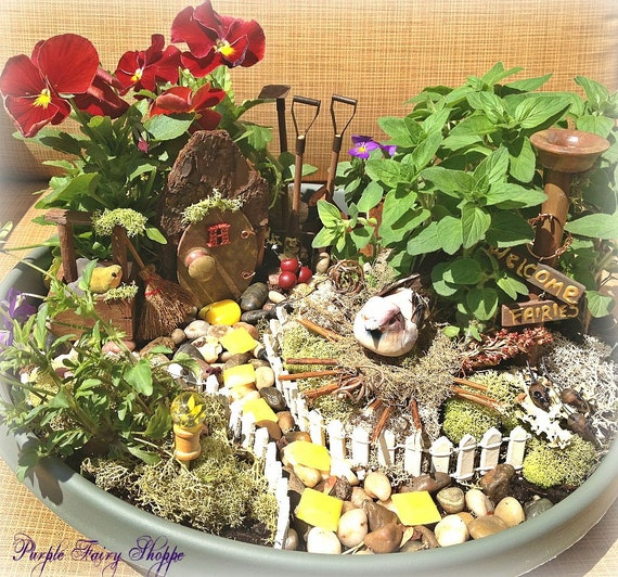 Woodland Fairy Garden Kit Fairy Garden Set Miniature Fairy