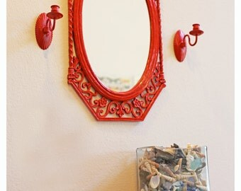 Cherry Red Indian Candle Sconces