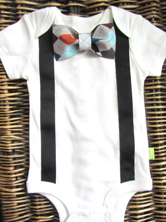 Baby boy clothes bow tie and suspenders outfit coming home for Baby shirt and bow tie