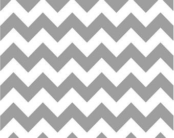 Chevron Fabric - Gray Taupe  Medium Chevron Fabric by Riley Blake Designs C320 40 Gray - 1/2 yard