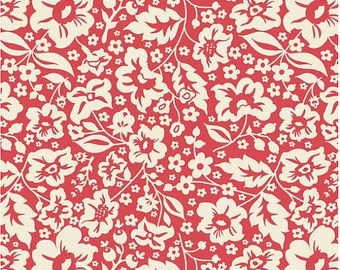Red Floral Fabric - Sweetest Thing by Zoe Pearn for Riley Blake Designs C2982 Red - 1/2 yard