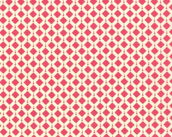 Geometric Fabric - Summer House Geometric Belmont Popsicle Pink by Lily Ashbury for Moda 11448 17 - 1/2 yard