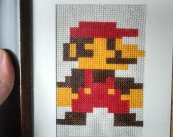 Easy Beginner Mario Cross Stitch Pattern PDF Instant Download