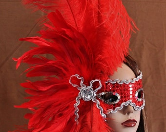 Hand Crafted Feather Mask (FM113)