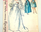 """1963 Vintage Wedding and Bridesmaid Dress Sewing Pattern Simplicity 5342 Bust 32"""""""