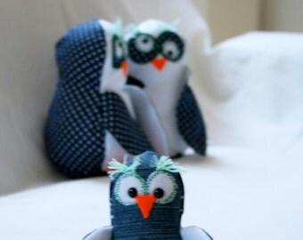 Little baby owl, stuffed owl, animal toy Whoo-oo Whoo-oo