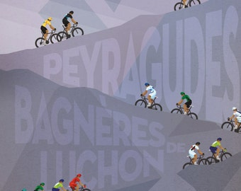 Tour de France Daily Poster - 2012 Stage 17