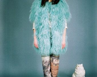 Mongolian Lamb Fur Coat-Custom Lining and Colour Choice