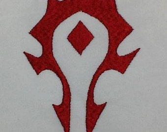 WoW Horde Filled Embroidery Design- INSTANT DOWNLOAD