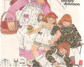 Butterick 5279 BETSEY JOHNSON Dress Pinafore Bloomers Size 2 VINTAGE 1970S