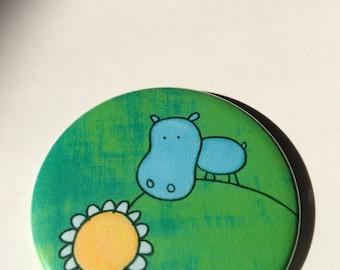 Hippo Button Magnet