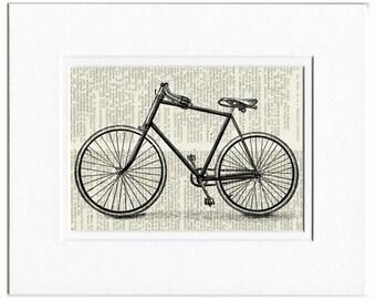 bike print IV dictionary page print