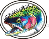 Catch and Release Rainbow Trout 3M Vinyl Decal