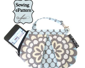 2- PDF Sewing Pattern, Sew Spoiled Ladybug Mini Purse and Doodle Bag
