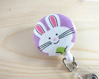 Retractable Badge Holder ID Badge Reel - Easter Bunny