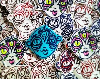 Lucid Rose Third Eye Goddess sticker