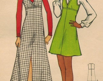 1970s Butterick 6758 UNCUT Vintage Sewing Pattern Misses Jumper Size 10 Bust 32-1/2