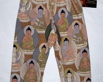Buddha Baby - Zen Baby - Baby Pants - Girls Pants - Boys Pants - Purple - Conscious Children's Clothes - Size 12m