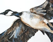 "Watercolor Painting, Original Painting, Large, 18""x24"", Goose"